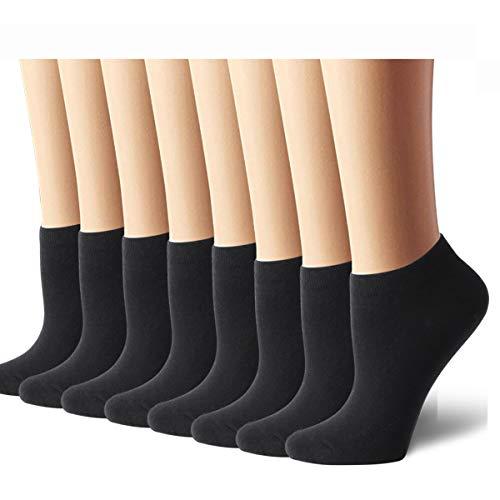 - 8 Pairs Womens Ankle Socks No Show Socks Women Socks Casual Socks Black
