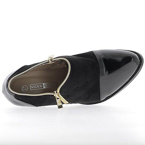 Niedrige Stiefel mit großen Fersen 8,5 cm Bi-material