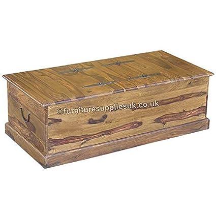 Furniture Supplies Uk Jali Sheesham Trunk Chest Coffee Table