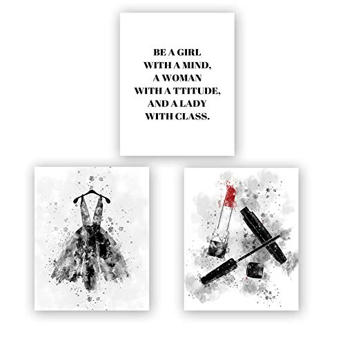 Homdeco Watercolor Fashion Art Print Set of 3 (8