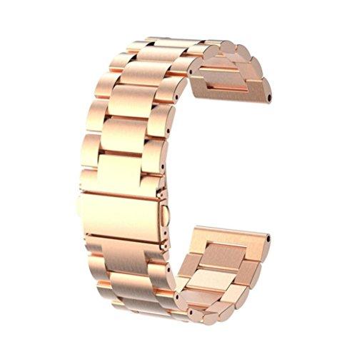 Garmin Fenix 5x Band,Sunfei Genuine Stainless Steel Watch Bracelet Band Strap for Garmin Fenix 5x GPS Watch (Rose Gold)