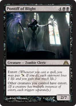 Magic MTG Excellent+ Pontiff of Blight ~ Dragon/'s Maze