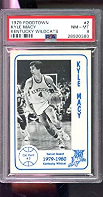 1979 Foodtown #2 Kyle Macy Kentucky Wildcats ROOKIE RC College NCAA NM-MT PSA 8 Graded Basketball Card