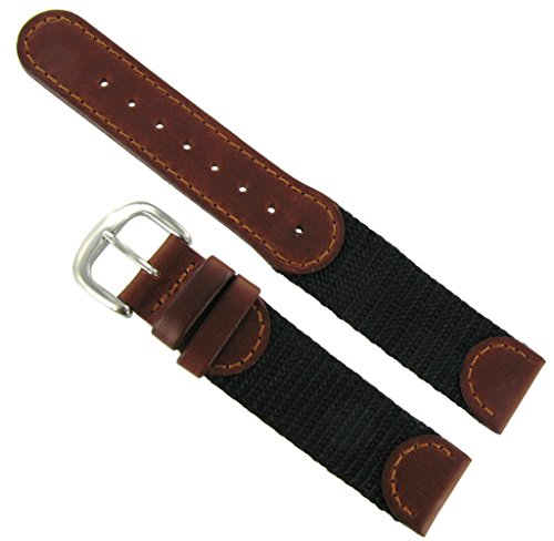 20mm Brown Leather Swiss Army Watchband - Army Swiss Watch Accessories