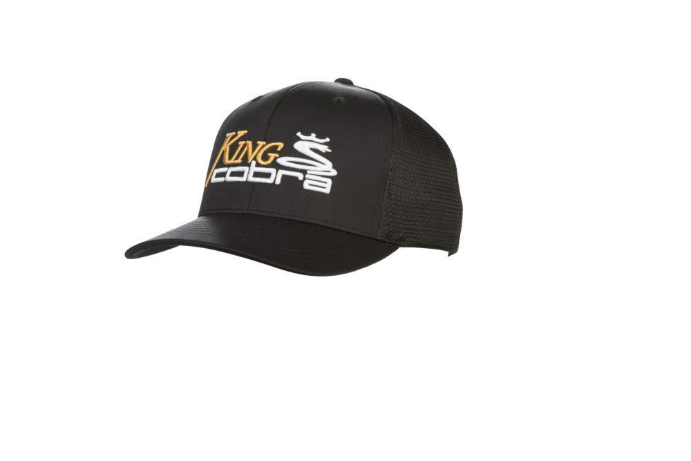 ab22ff0207262 Amazon.com  Cobra Golf 2019 King Cobra Trucker Snapback Hat (Black)  Sports    Outdoors