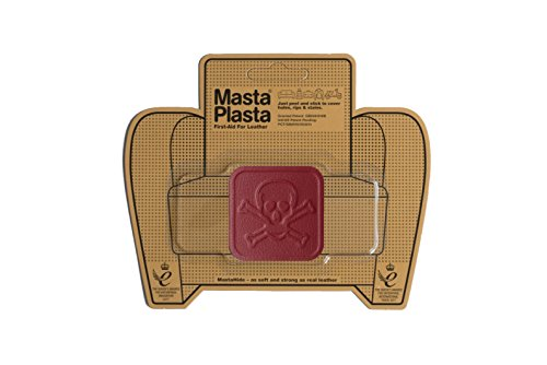 MastaPlasta, Leather Repair Patch, First-aid for Sofas, Car Seats, Handbags, Jackets, etc. Red Color, Pirate 2-inch, Designs Vary