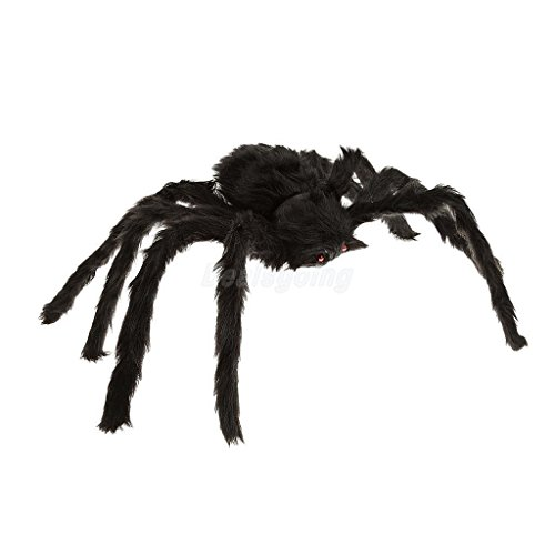 Large Black Spider & White 5ft Cobweb Halloween Party Home Hanging (Spider Man Web Warriors Halloween)