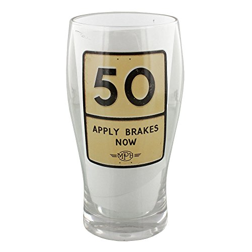 glass 50th birthday beer mug - 6
