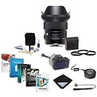 Sigma 24mm f/1.4 DG HSM ART Lens for Nikon DSLRs -USA Warranty - Bundle w/Filter Kit, FocusShifter DSLR Follow Focus, Lens Wrap, Cleaning Kit, Sigma USB Dock for Canon Lenses, Software Pack and More