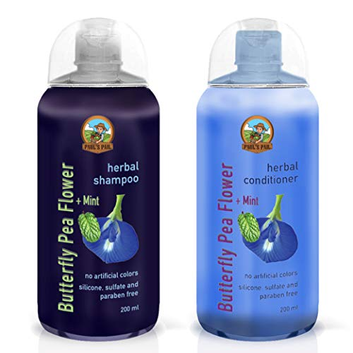 Imported from Thailand - Paul's Pail Butterfly Pea Flower Shampoo & Conditioner Set from Paul's Pail