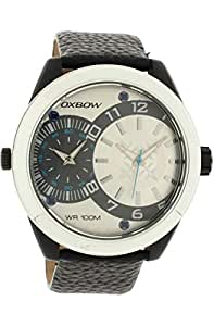 Oxbow Men`s White Dial Leather Band Watch [4550802]
