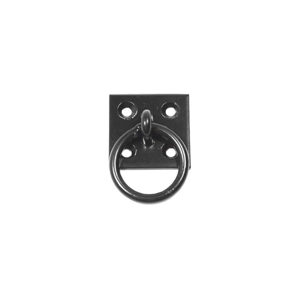Timberlane Genuine Plate Mount Pull Ring, 1 1/2'' Length Shutter Hardware, Black Powder Coated Stainless Steel by Timberlane