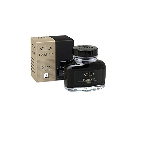 Parker : Super Quink Permanent Ink for Parker Pens, 2-oz. Bottle, Black -:- Sold as 2 Packs of - 1 - / - Total of 2 Each