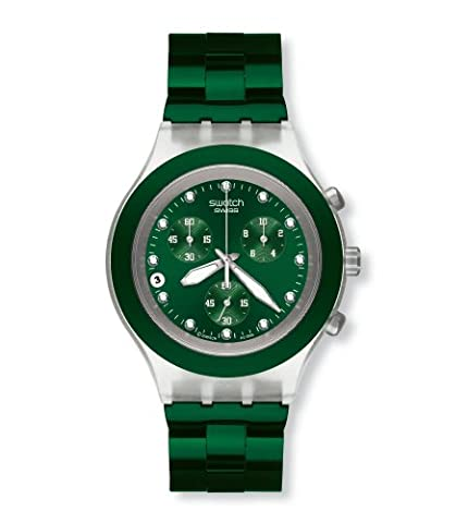 Swatch Irony Diaphane Chrono Full Blooded Green Watch SVCK4043AG (Sport Swatch Men)
