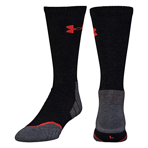 (Under Armour All Season Wool Boot Socks, 1-Pair, Black/Steel, Medium)