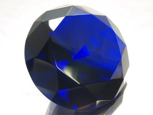 Amethyst Crystal Diamond Jewel Paperweight 80mm