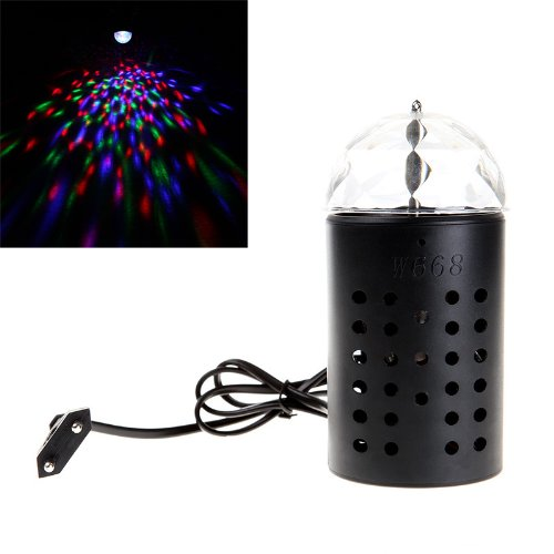 Kingzer LED Crystal Rotating Stage Light W668 Effect Light RGB Voice-activated DJ Lamp from KINGZER