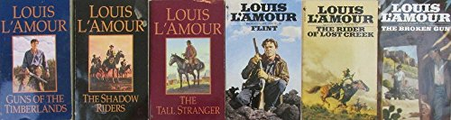 Author Louis L'Amour Six Book Set Bundle Collection, Includes: Guns Of The Timberlands - The Shawdow Riders - The Tall Stranger - Flint - The rider Of Lost Creek - The Broken Gun ()