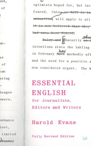 Essential English for Journalists; Editors and Writers (Pimlico)