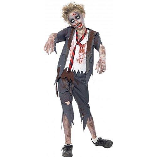 Smiffy's Big Boys' Zombie School Halloween Fancy Dres Costume 10-12 Years Grey