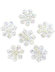 120 Pieces Glitter Silver Snowflake Cloth Appliques Sewing On Christmas Decor Accessories Popular Clothing Bag Hat