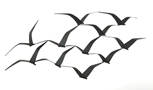 Fab Habitat Soaring Seagulls - Metal Wall (Birds Metal Wall)