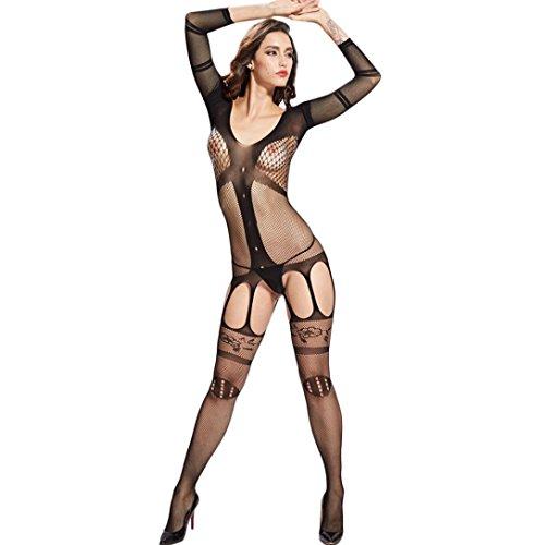 Cintura size della sexy condole Lingerie pigiama sedotto di biancheria con calze Uniforme da Sexy Donna delle AJ sexy le sul seta donne apertura ❤️ G ha cavallo Free Fami qgnXqp