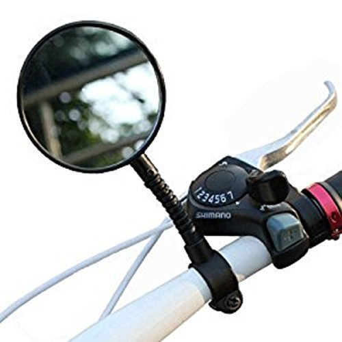 Flexible Bike Bicycle Handlebar Glass Rear View Cycling Cycle Rearview Mirror Suitable For Handlebars Mountain Bike And Road Bike Color Black Brand - Work How Do Sunglasses