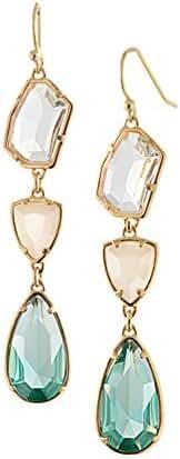 Swarovski Element Crystal Waterdrop Shape Dangle Earrings Three Colors Drop Earrings