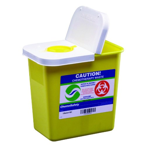SharpSafety Chemotherapy Sharps Container Part No. 8982 KENDALL HEALTHCARE PROD. MMED-KND8982 Case by SharpSafety