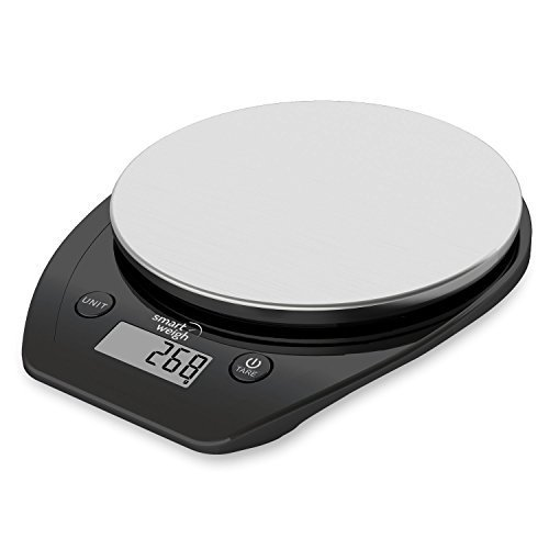 Amazon Lightning Deal 98% claimed: Smart Weigh 11lb/5kg Electronic Multifunction Kitchen and Food Scale, Stainless Steel Platform, Large LCD Screen