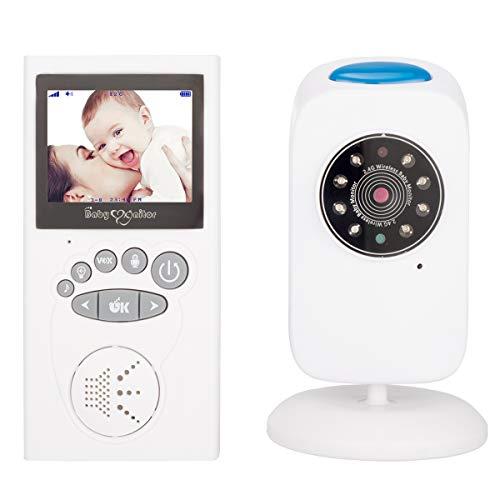 GSPOR Vigilabebes, Monitor Digital inalámbrico para bebés de 2,4 Pulgadas, Respuesta bidireccional, Temporizador, Ajuste...
