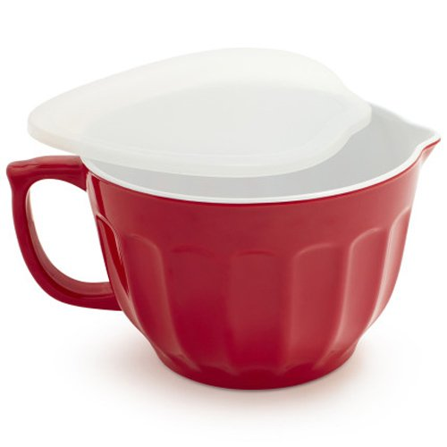 Sur La Table Batter Bowl with Lid FR9208 , Red