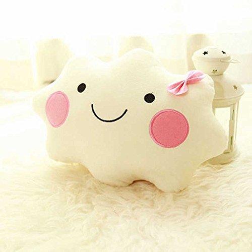 Cute Cloud Shape Pillow Cushion Soft Stuffed Plush Doll Sofa Home Decor Gift(A)