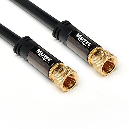 MutecPower 2m Sat Cable coaxial de la Antena de Conector F en el Conector F para Cable de televisión de Alta definición por satélite Cable Audio Video Full ...