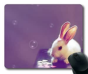 Cute Rabbit Easter Thanksgiving Personlized Masterpiece Limited Design Oblong Mouse Pad by Cases & Mousepads