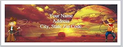150 Personalized Return Address Labels Country Cowboy Cowgirl (bx 179)