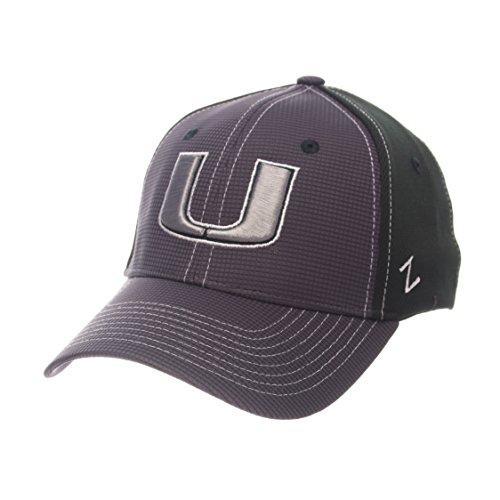 Men Apparel Headwear (NCAA Miami Hurricanes Adult Men Grid Cap, Medium/Large, Gray/Team Color)