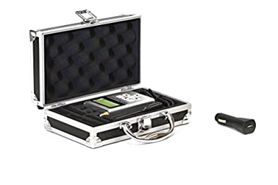 RF Explorer 3G Combo with USB Car Charger + EMR Shielding Solutions High Quality Advanced Aluminium Case + Free Downloadable Software for Windows and Mac for RF and Wi-Fi Analyzing
