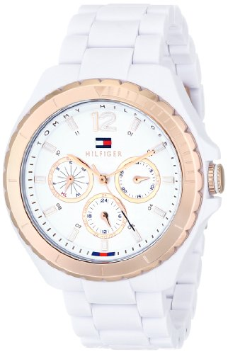 Tommy Hilfiger Women's 1781429 White and Rose Gold-Tone Watch