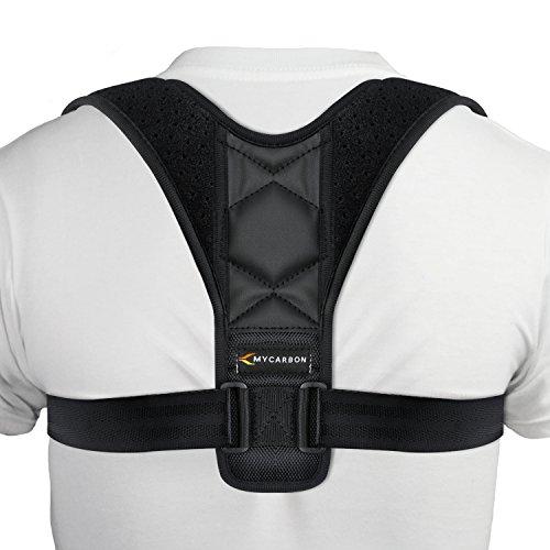 MYCARBON Posture Corrector for Women Men Kids,Update Strong Support Back Brace,Adjustable Posture Brace,Comfortable&Breathable Shoulder Brace Clavicle Support for Back,Neck,Shoulder Pain Relief