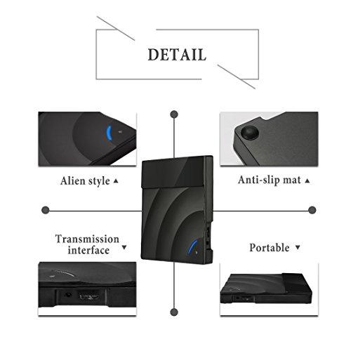External DVD Drive, Sunreal USB 3.0 External CD DVD Burner Ultra Slim Portable Touch Control CD/DVD Writer Reader Player for Laptop/Desktop Support Window/Mac OS(Black) by Sunreal (Image #5)