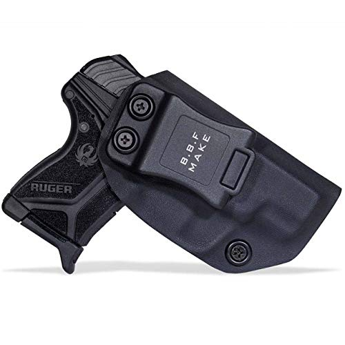 B.B.F Make IWB KYDEX Holster Fit: Ruger LCP II | Retired Navy Owned Company | Inside Waistband | Adjustable Cant | US KYDEX Made (Black, Right Hand Draw (IWB))