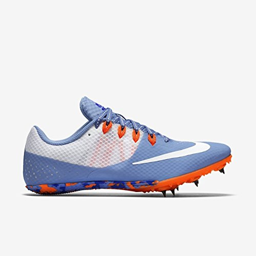 Nike Women's Zoom Rival S 8 Track Field Spikes, Chalk Blue/Orange/White