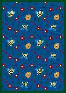 Bee Attitudesラグ – 3.8足X 5.3足rectangle-blue