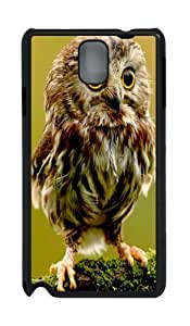 Baby Owl PC Case and Cover for Samsung Galaxy Note 3 Note III N9000 Black