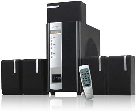 45 W Diseño 5.1 – Sistema de altavoces para PC Ordenador Portátil Gamer Gaming TV Box Cajas Con Subwoofer Negro Sistema de altavoces Sistema de sonido: Amazon.es: Informática