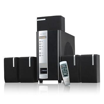 45 W Diseño 5.1 - Sistema de altavoces para PC Ordenador Portátil Gamer Gaming TV Box Cajas Con Subwoofer Negro Sistema de altavoces Sistema de sonido: ...