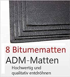 Bitumenmatte Bitume Adm Adm Matte Anti Droehn Matte 50 X 20 Cm Selbstklebend 8 Stück Türdämmung Dämmung Dämmmaterial Dämmmatte Carhifi Autohifi Oldtimer Elektronik