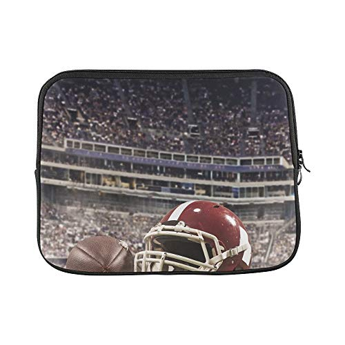 Design Custom Ball American Football Players Helmet On Sleeve Soft Laptop Case Bag Pouch Skin for MacBook Air 11